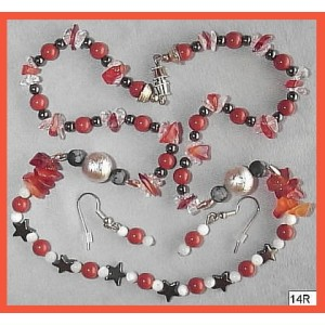 Mars, the Angry Red planet Necklace Set