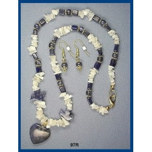 Sodalite & Moonstone Necklace Set