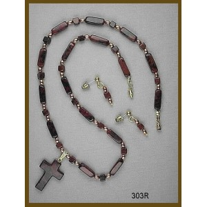 Necklace Set Made Entirely of Mahogany Obsidian