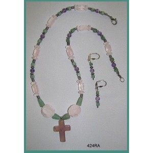 Jesus, Rose of Sharon Necklace Set